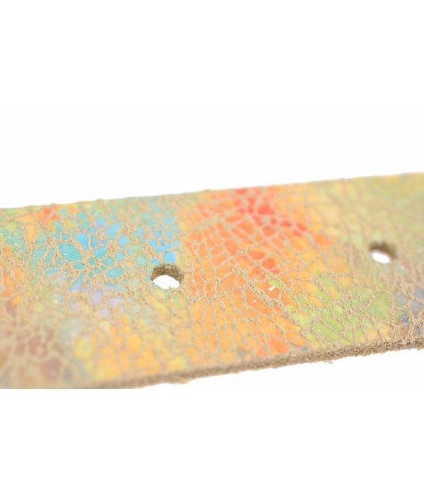 Alberto riemen Dames riem met kleurrijke vlekken