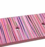 Alberto riemen Roze dames riem met kleurrijke strepen