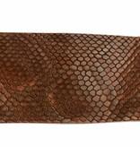 Alberto riemen Luxe bruine riem met slangenstructuur