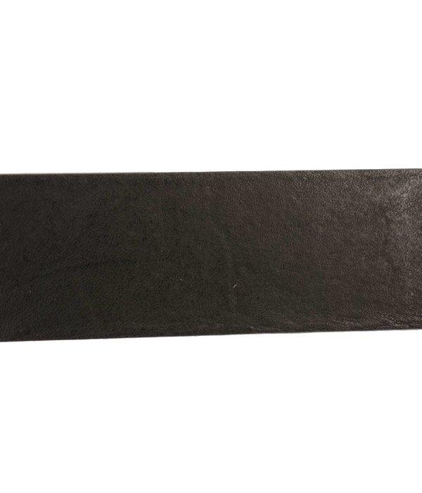 Alberto riemen Soepele riem met vintage structuur en zwarte kleur