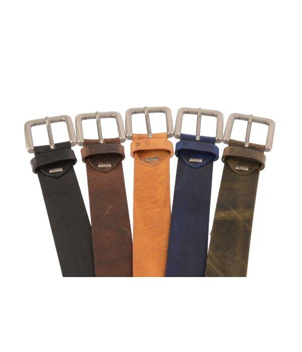 Alberto riemen Soepele riem met vintage structuur en bruine kleur