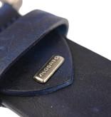 Alberto riemen Soepele riem met vintage structuur en blauwe kleur