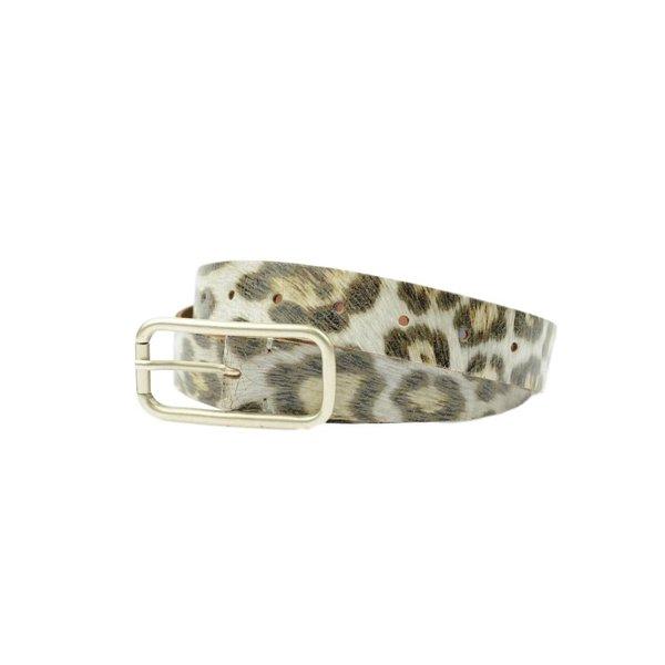Elegante damesriem met luipaardprint