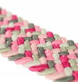 Alberto riemen Vrolijke multicolor webbing damesriem