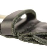Doska luxe gevlochten zwarte kinderriem