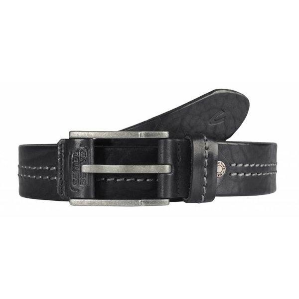 luxe stoere zwarte riem met stiksel
