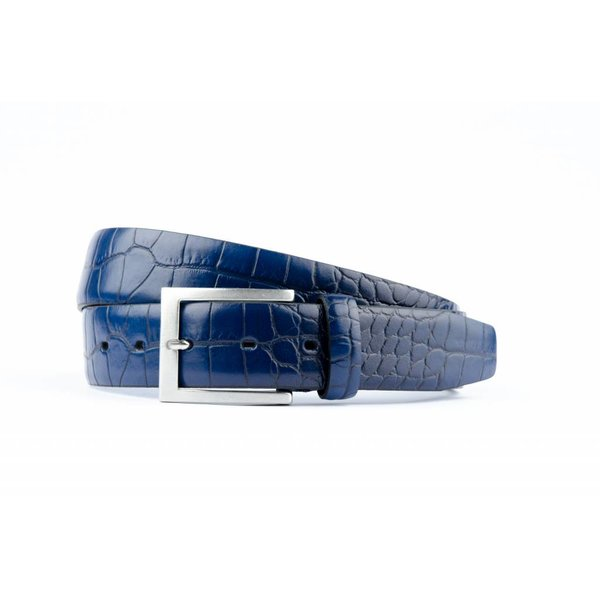 Mooie blauwe Croco pantalonriem