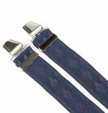 Pierre Mouton Brede blauwe Bretels - extra sterke clips