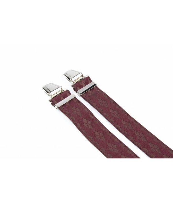 Pierre Mouton Brede bordeaux Bretels - extra sterke clips