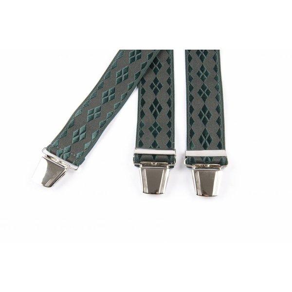 Groene bretels met ruit dessin