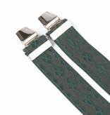 Pierre Mouton Brede groene Bretels - extra sterke clips