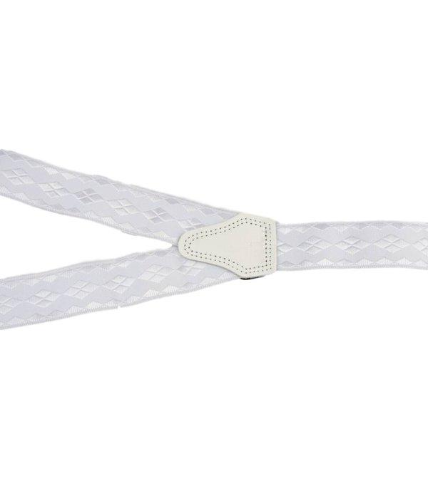 Pierre Mouton Brede witte Bretels - extra sterke clips