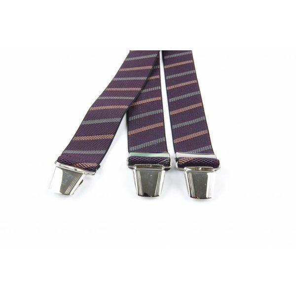 Paarse schuin gestreepte bretels