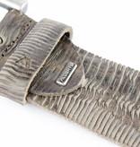 Alberto riemen Luxe herenriem met unieke structuur in grijze kleur
