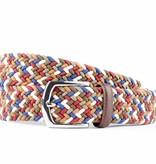 Alberto riemen Vrolijke multicolor webbing riem