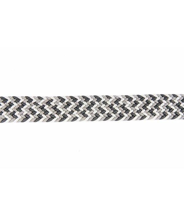 Alberto riemen Fraaie webbing riem in verschillende grijstinten