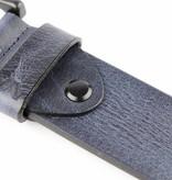 Alberto riemen Mooie blauwe riem met zwarte gesp