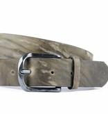 Alberto riemen Mooie vintage herenriem in grijs-bruine kleur