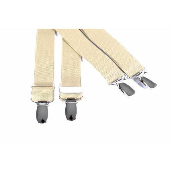 Smalle beige bretels