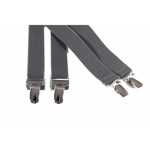 Smalle grijze bretels