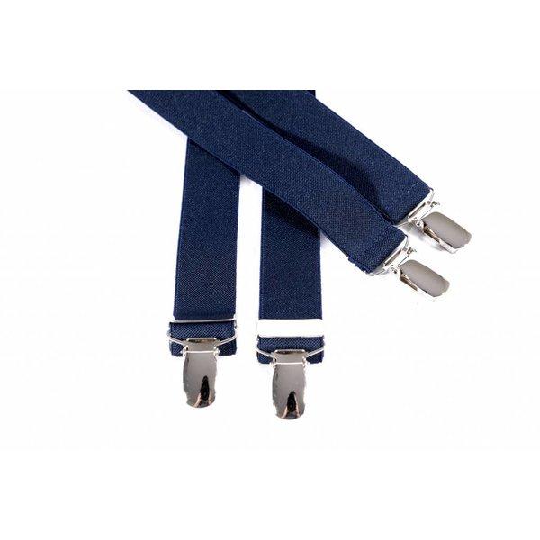 Smalle donkerblauw bretels