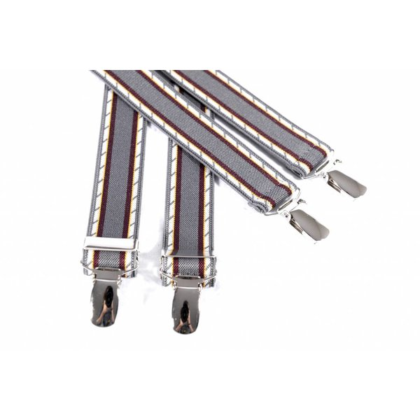 Smalle grijs gestreepte bretels