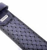 Alberto riemen Mooie gevlochten donkerblauwe herenriem