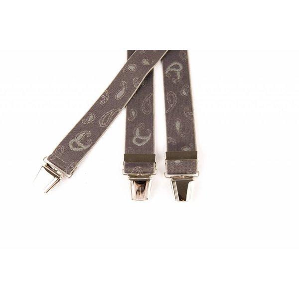 Grijze bretels met mooi grijs dessin