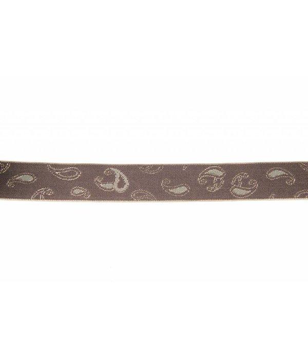 Pierre Mouton Brede grijze Bretels - extra sterke clips