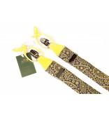 Leyva Luxe blauwe bretels met fraai geel dessin