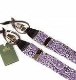 Leyva Luxe paars-blauwe bretels met fraai wit dessin