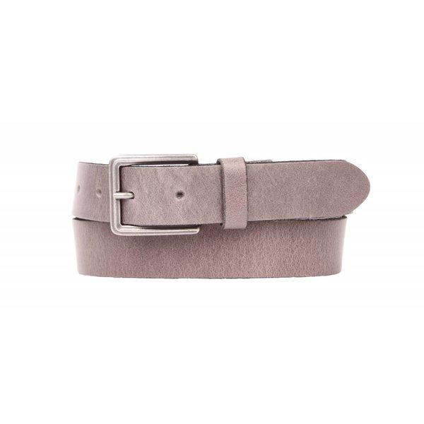 Stoere grijze jeansriem