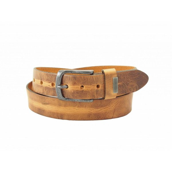 Stoere, cognac fairtrade herenriem
