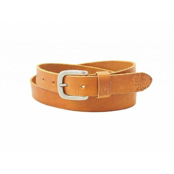 stijlvolle cognac fairtrade damesriem