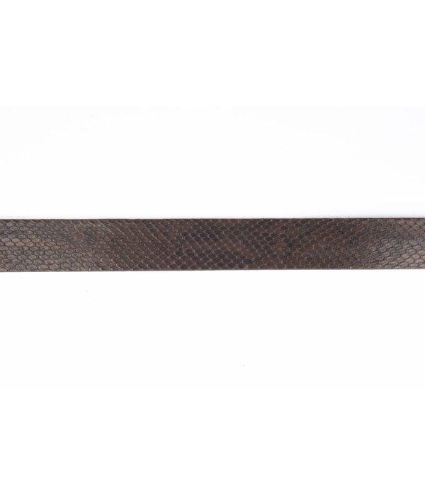 Leyva Echte Slangenleder riem - bruin