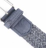 Alberto riemen Unieke blauwe riem met leuke combinatie van materialen