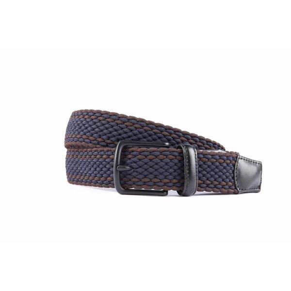 Mooie elastische blauw/bruine riem