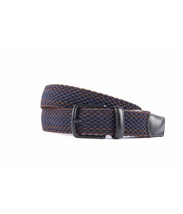Alberto riemen Mooie elastische blauw/bruine riem