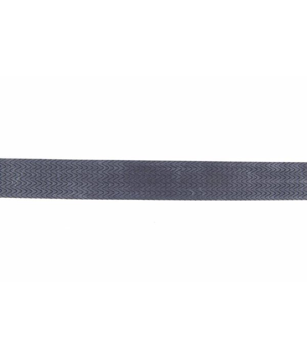 Alberto riemen Stoere blauwe riem met mooi dessin