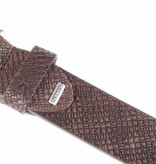 Alberto riemen Stoere bruine casual riem met leuke embossing