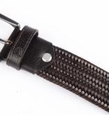 Alberto riemen Bruine elastische riem van hoogwaardig leer