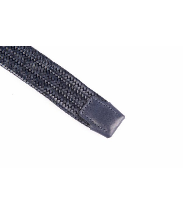 Alberto riemen Navy elastische riem van hoogwaardig leer