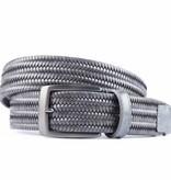 Alberto riemen Grijze elastische riem van hoogwaardig leer