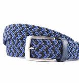 Alberto riemen Vrolijke blauwe multicolor webbing riem