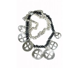 Lucky Boeddha Black bracelet with charms