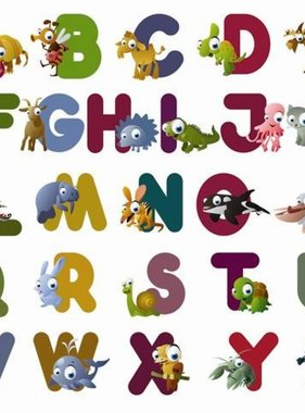 Little Ones fotobehang Animal ABC 416010