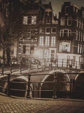 Dutch Wallcoverings fotobehang City Love Amsterdam Vintage Brown CL39C