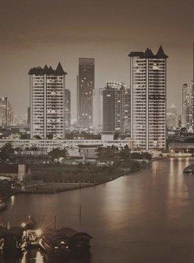 Dutch Wallcoverings fotobehang City Love Bangkok Vintage Brown CL87C