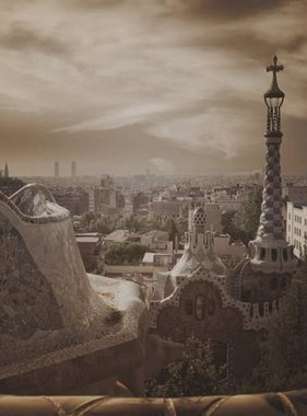 Dutch Wallcoverings fotobehang City Love Barcelona Vintage Brown CL07C