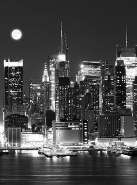 Dutch Wallcoverings fotobehang City Love New York Black and White CL08B